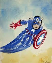 captain america superhero handprint art crafts for boys