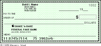 personal check format format