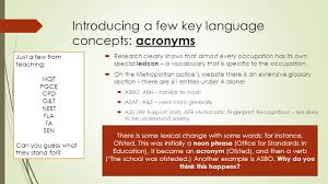 language and occupation lo to understand some key ideas and