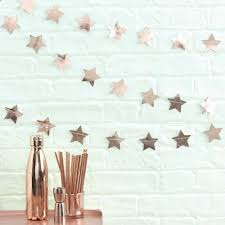 Pink And Gold Baby Shower Decorations by Rose Gold Star Garland Rose Gold Wedding Decor Baby Shower