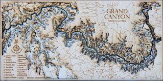 Map Of Grand Canyon Mini Grand Canyon 3d Wood Map U2022 Tahoe Wood Maps