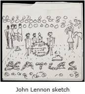 john lennon original sketch for
