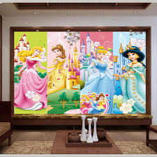 compare prices on princess wallpaper mural online shopping buy 3d wallpaper photo wallpaper custom mural kids room living room princess and the castle painting sofa