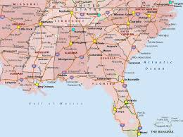 road map of southeast us southern and central united states map stock photo 173558308