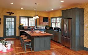 Best Kitchen Colors With Oak Cabinets Staining Kitchen Cabinets With Bolder Color Amazing Home Decor