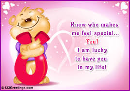 who makes me feel special free you are special ecards greeting