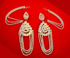 kaan earrings ke94 magnificent zircon chandelier earrings with kaan chain