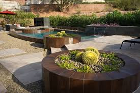 modern planters indoor pool southwestern with stucco wall modern