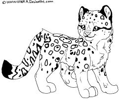 16 leopard coloring print color craft