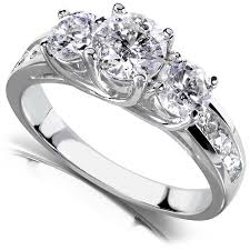 real stone rings images Round brilliant three stone diamond engagement ring 2 carats ctw jpg