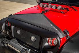 jeep cj hood rugged ridge releases new hood bra for 2007 2017 jeep wrangler jk