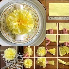Yellow Pom Pom Flowers - wonderful diy tissue paper pom pom flowers