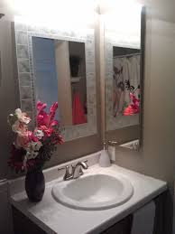 Bathroom Mirror Home Depot by Pretty Bathroom Mirror Home Depot Deco Glass Block Rectangle