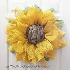 burlap sunflower wreath sunflower wreath tutorial