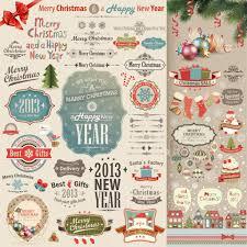 Good Decorative Elements Christmas Vintage Scrapbook Set U2014 Stock Vector Aviany 15053685