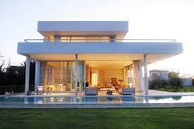 stunning modern aqua house in argentina front side view home