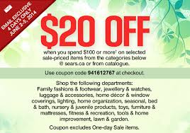 sears home decor canada sears ca canada promo codes get 20 off when you spend 100 or