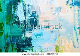 hand drawn oil painting abstract art stock illustration 670581166