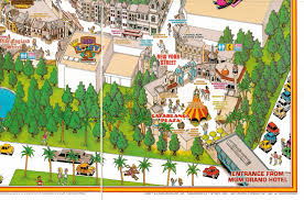 Six Flags Great Adventure Map Newsplusnotes 1994 Mgm Grand Adventures Souvenir Map
