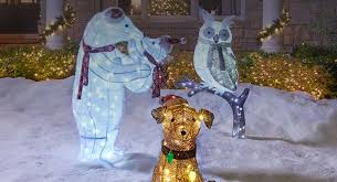 lighted dog christmas lawn ornament outdoor christmas decorations