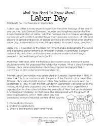 Thanksgiving Worksheets For 3rd Grade What You Need To Know About Labor Day Free Printable Worksheet
