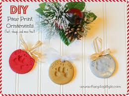 foxy style diy easy and cheap paw print ornaments