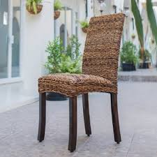 Wicker  Rattan Kitchen  Dining Chairs Youll Love Wayfair - Wicker dining room chairs