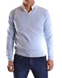gant light weight zip sweater in blue for men lyst