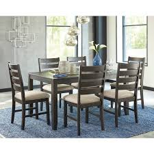 ashley dining room tables signature design by ashley rokane brown 7 piece dining room table