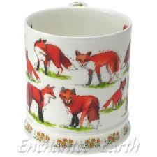 fine bone china country fox mug