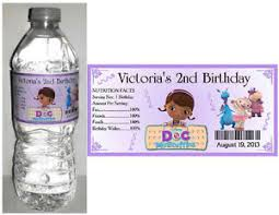 doc mcstuffins birthday party 20 doc mcstuffins birthday party favors water bottle labels ebay