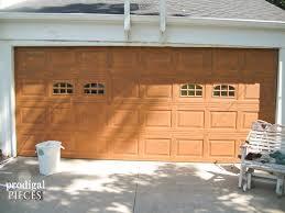 Painting Aluminum Garage Doors by Remodelaholic Faux Wood Carriage Garage Door Tutorial