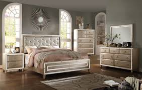 furniture voeville 4 piece bedroom set in matte gold u0026 antique gold