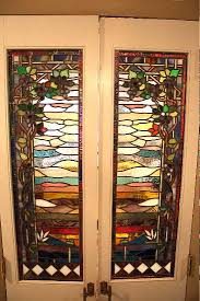 stained glass internal doors stained glass cabinet inserts by powell stained glass serving the
