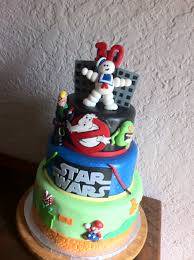 80s themed cake including ghostbusters u2013 star wars u2013 super mario