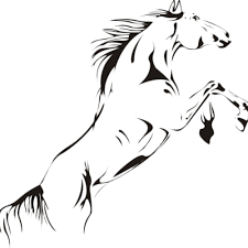 online get cheap stylish wall stickers aliexpress com alibaba group removable black jumping horse wall stickers pvc decal stylish home graphics decoration for stairways tv wall