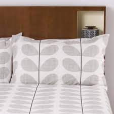 scribble stem bedding concrete grey luxury bed linen orla kiely