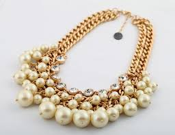 statement necklace pearl images Sale party wedding necklace gift statement necklace crystal pearl jpg