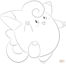 clefairy coloring page free printable coloring pages