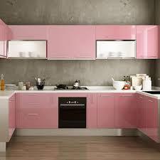 white gloss kitchen cupboard wrap yazi gloss self adhesive vinyl kitchen cupboard door cover drawer wardrobe paper 24x98 inch pink