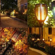 Patio Torch Lights by Solar Lights Dancing Flames Balight Led Waterproof Wireless