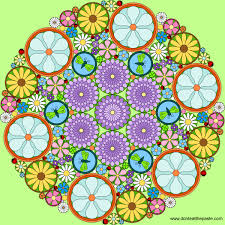 don u0027t eat the paste really intricate flower mandala to color