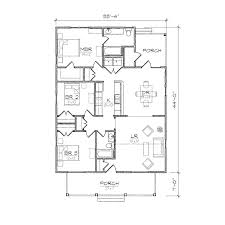 Bungalow House Plans With Front Porch Clarke Ii Bungalow Floor Plan Tightlines Designs