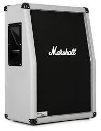 marshall 2x12 vertical slant guitar cabinet marshall 2536a silver jubilee cab 140 watt 2x12 vertical slant