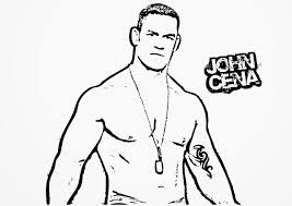 wwe coloring pages john cena 9132 bestofcoloring com