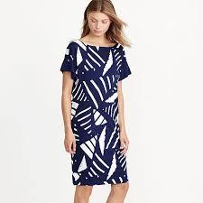 cozy geometric print shift dress evening dresses navy