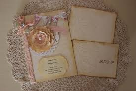 vintage handmade wedding invitations