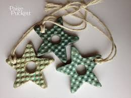 ceramic ornaments with cookie cutters sown