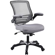 white office chair mesh amazon com modway edge mesh back and gray mesh seat office chair
