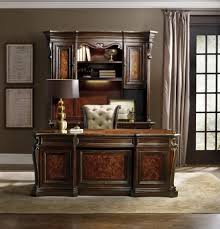 Hooker Furniture Computer Armoire by Executive Desk With 7 Drawers By Hooker Furniture Wolf And